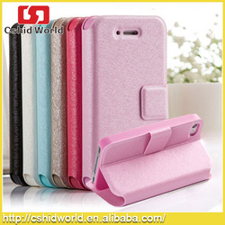 Phone accessories cell phone case Glittering wallet Magnetic Flip stand PU leather case for iPhone 4 4.7,for iPhone 4 case leath