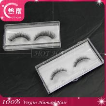 Most popular 100% human hair made false eyelash