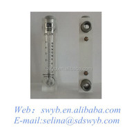 China parts of water treatment equipment acrylic flow meter panel type