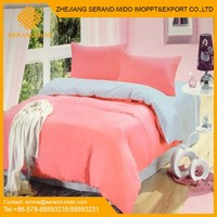 Fashion Wholesale100% cotton solid colour bed set comforter set solid bed sheet