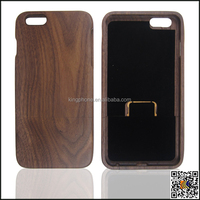nature walnut wood case for iphoen 6 plus ,solid walnut wooden covers for iphone 6+, 5.5 inch