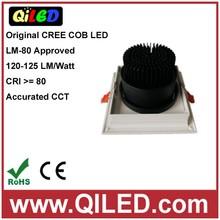 15W 1200LM warm white AC220V COB LED grille light, COB LED grille down light