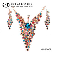 2015 top-rated American style peacock necklace sets
