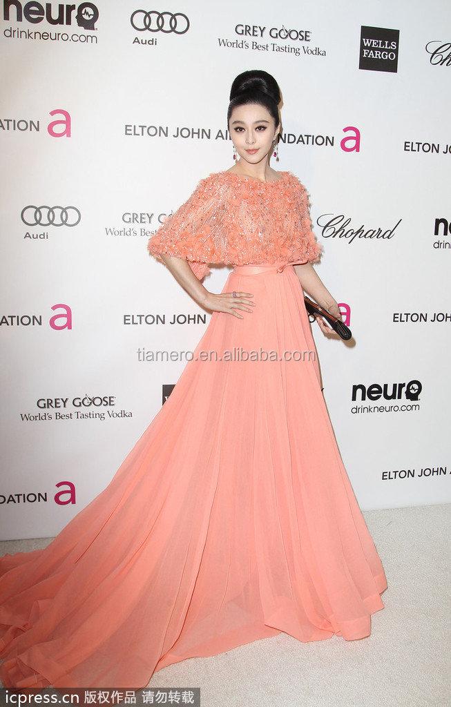 Caliente venta de elie saab de color rosa de vestidos de noche ...