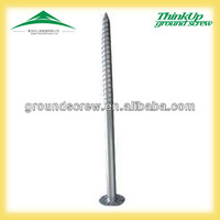 OEM factory high quality no dig hot sales galvanized ground screw pole anchor
