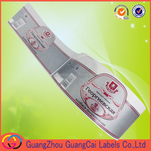 china price custom food self adhesive label with paper/ vinyl/ PE/PET/BOPP/ thermal material