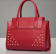 2015 lastest New style women stud bag summer Fashion branded satchel handbag