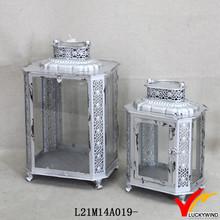 Metal Silver Finish European Lantern Candle Holders from Fuzhou