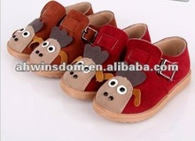 2012 fastion velour leather relaxation children's pumps