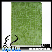 2014 best selling for ipad air tablets crocodile skin case for apple ipad air
