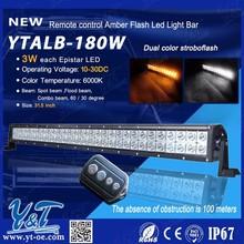 Y&T Auto lighting system 180w flash 4x4 LED light bar LED truck light