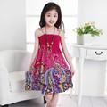 2015 nueva venta al por mayor ropa de marca modelo del arco iris vestido de las muchachas vestidos estilo bohemio para ladies girls