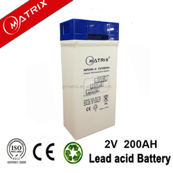 best price dry batteries 2v 200ah for wind power system