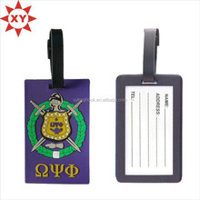 Novelty 3D PVC luggage tag for travelling