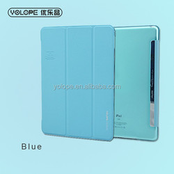 For iPad air smart case with wake up and sleeping function best pu leather protect case