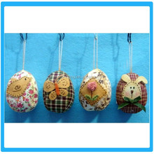 decoration dot cloth wrapped easter foam egg hanging