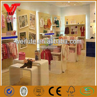 Luxury retail store kids clothes shop decoration rack fittings display equipment