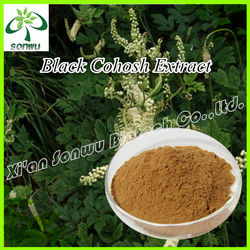 Black cohosh extract triterpenoid saponins