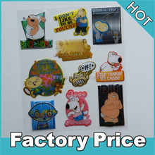 kids 3d cartoon vinyl resin epoxy stickers