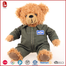 2015 popular gift different uniform teddy bear in BSCI and WCA high quality