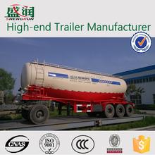 shengrun brand 30-60CBM 3 axle bulk cement trailer,cement powder tanker semitrailer for sale