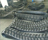 rubber tracks and rubber track pad for paver, combine harvester, excavator, truck,snow blower