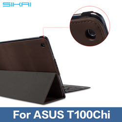"""SIKAI Patent leather Tablet Keyboard Station Stand Holder Case Cover For ASUS Transformer Book T100 Chi T100chi 10.1"""" Tab"""