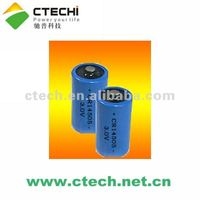 CR14505 AA type 3V 1400mAh Lithium Cylindrical Primary Battery for gas meter