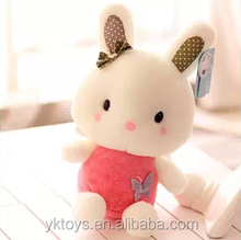 New type beautiful pink rabbit plush toy