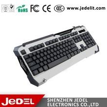 2015 New Design Three Colors LED Illuminated Gaming keyboard