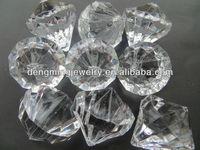 AAA Quality Chunky Clear Acrylic Diamond Pendant for Kids Chunky Beads Necklace