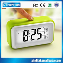 Pretty digital color changing projection alarm clock