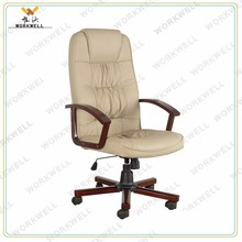 WorkWell high back pu chair with wood armrest Kw-m7233