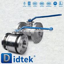 Didtek API6D Válvula de bola flotante de acero fundido a prueba de fuego anti estática 2 piezas