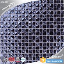 Classical Elegant Black Crystal Glass Decorative Mosaic Wall Tile py004