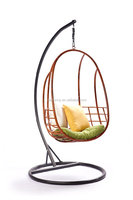 Rattan egg swing chair with cushion