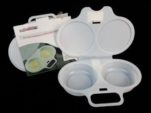 Double/2 lattice Microwave oven Fried egg box Steamed egg tool Environmental protection pp plastic case