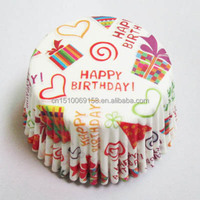 Cake paper cup grease proof cupcake paper baking cups printed cupcake paper