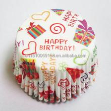 Cake paper cup grease proof cupcake paper baking cups printed cupcake paper