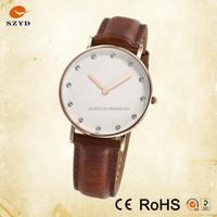 Luxury Wrist Band Vogue Watch Quartz Popular All Stainless Steel Fashion Watch Japan Miyota Movt Genuine Leather Watches