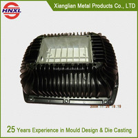 customized street metal aluminum die casting led light housing parts, led street light housing and parts