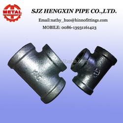 plumbing materials in china DIN thread hot dip galvanized tee