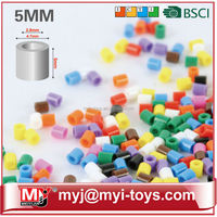 Meiyijia Factory directly selling the ECO perler bead for kids 5mm solid color