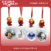 decorative christmas angel snow globe with photo insert