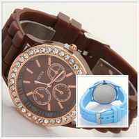 2015 Latest Arrival Couple Lover Wrist Watch/lover silicone watch for gift/silicone watch for wedding