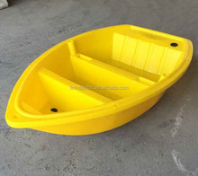 New type PE material plastic fishing trawlers pontoon boat for fishing