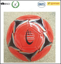 Discount Popular Design Orange Color Soccer Ball