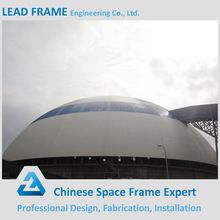 Steel space frame bulk storage dome sheds