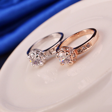 New Women's 18K Rose Gold /Platinum Plated With Austrian Crystal Elements Wedding Jewely Ring B007