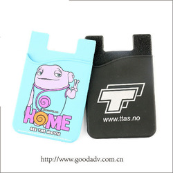 Attractive promotional Logo printed Sticky adhesive phone card holder